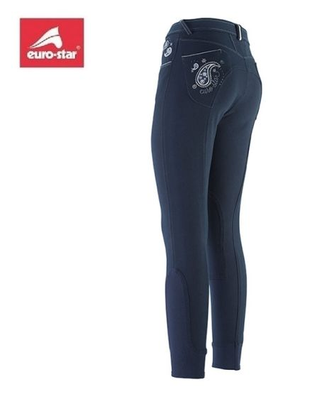 Euro-Star Vollbesatz-Reithose ROSE - strong blue
