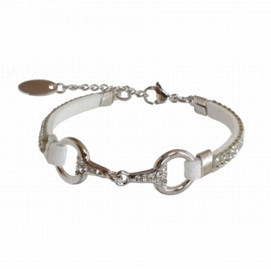 EQUINEMA Armband LILO Strass - silber/weiss