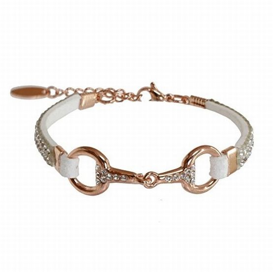 EQUINEMA Armband LILO Strass - rose/weiss