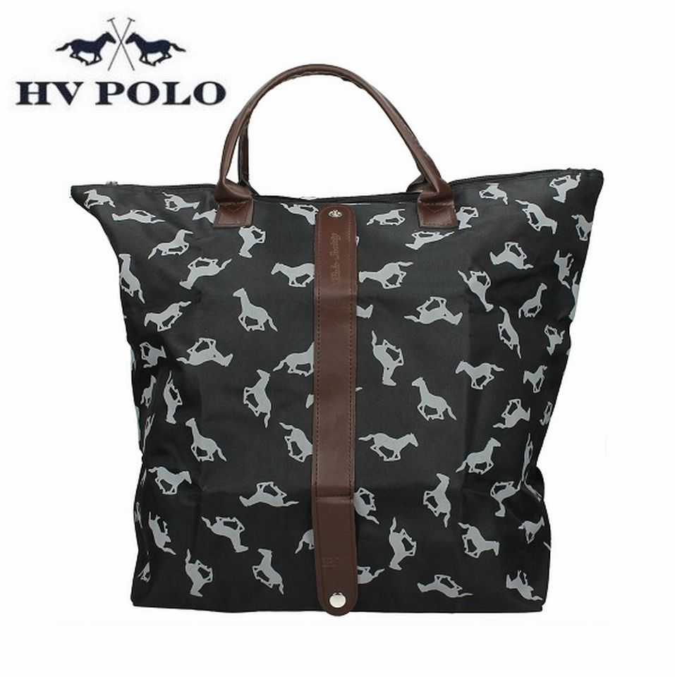hv polo tasche folding bag schwarz cavallini reitsport. Black Bedroom Furniture Sets. Home Design Ideas