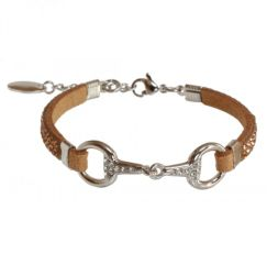 EQUINEMA Armband LILO Strass - silber/beige