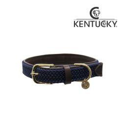 KENTUCKY Hundehalsband PLAITED NYLON - navy