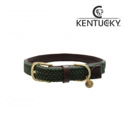 KENTUCKY Hundehalsband PLAITED NYLON - olive green