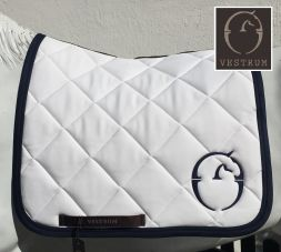 VESTRUM Schabracke Saddle Pad CHICAGO II - weiss