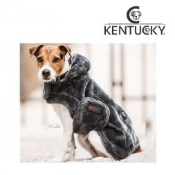 KENTUCKY Hundemantel DOG Coat FAKE FUR - grau