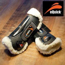 eQuick Gamasche eLight GLITTER FLUFFY front - sw