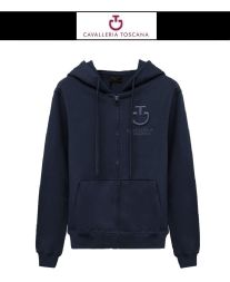 Cavalleria Toscana Damen HOODED SWEATSHIRT navy