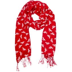 HV POLO Schal SCARF HORSES - rot
